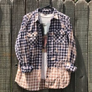 Upcycled bleached flannel size TL